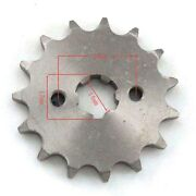 428 Front Sprocket 15 Tooth 17mm For Pitbike Chinese Motorcycle Atv 125cc 150cc