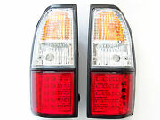 Rear Tail Signal Lights Lamp Crystal Red White Led For Toyota Land Cruiser 90/95