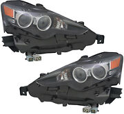 Led Headlights Assembly W/bulb New Pair Set For 14-15 Lexus Is250 Is350