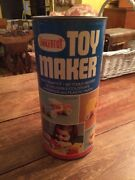 Vintage Tinkertoy Toy Maker 92 Pieces Hardwood And Plastic Pieces