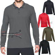 Under Armour Ua Tactical Performance Menand039s Long Sleeve Polo Golf Shirt 1279637