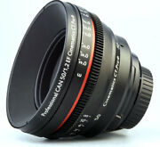 Customized Cine Lens Canon 50mm F1.2 Ef Mount For Slr Bmcc Bmpcc Red Raven Sony