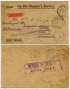 Gibraltar Official Paid To Ship 1937 Post Office Ohms Env Hms Cypress...portland