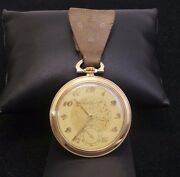 Incredible Borel Fils And Cie Antique 14k Yellow Gold Swiss Pocket Watch - 1900 -
