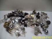 80 Piece Lot Door Hardware 24 Hinges, And 56 Other, Knobs, Pulls, Parts