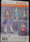 1350 Simplicity Monster High Costumes Sewing Pattern Sizes 7-14