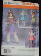 Simplicity Monster High Costumes Sewing Pattern 1350 Sizes 3-6