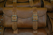 Usa Made Large Crazy Horse Brown Leather Tool Bag Fits Harley Indian