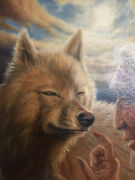 Painting James King Andldquoreflections In The Blood Clanandrdquo Wolf Medicine Man Skinwalker