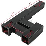 Truck 4000 Lb Dual 2 Trailer Hitch Receiver Rise Drop Extender Adapter Towing