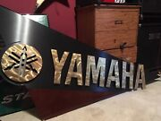 Giant Official Yamaha Heavy Wood Shop / Dealer Wall Sign