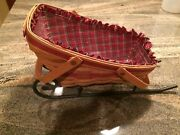 Longaberger Basket And Wrought Iron Sleigh -- 1991yuletide Traditions