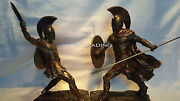 Hector And Achilles Unleashed Set W Sword And Shield Statue Sculpture Figurine Troy