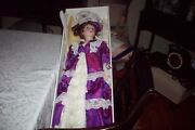 Old Court Of Dolls - Large 29 Fine Porcelain Doll W/orig Box All In Mint Cond