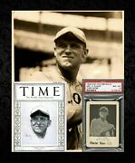 1922 George Sisler 24and039 Time Mag And 23and039 Wg7 Walter Mails Type 1 Original Photo