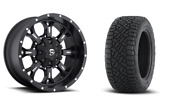 20 20x10 D517 Krank Black Wheels 33 Fuel At Tire Package 6x5.5 Toyota Chevy