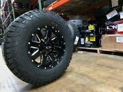17x9 Ion 141 Gloss Black Wheel 33 Fuel At Tire Package 6x5.5 Chevy Gmc Toyota