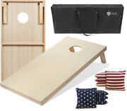 Tailgating Pros 4and039x2and039 Cornhole Boards Carrying Case And Stars Stripe Cornhole Bags