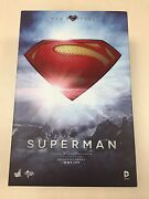 Hot Toys Mms 200 Man Of Steel Superman Henry Cavill 12 Inch Action Figure New