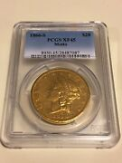 1866-s Xf45 Pcgs Liberty Double Eagle 20 Gold Coin Eyeclean Pq