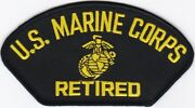 50 Pcs Us Marine Corps Retired B Embroidered Patches 2.75x5.25 Iron-on
