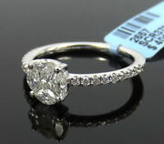 Fine 0.79ct Mixed Shape Diamond And 14k White Gold Ring Size 6.75