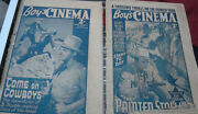 2 Old Vintage Boy's Cinema Magazines From England 1938