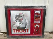 Framed Mike Trout 2011 Futures Signed/inscribed Nj Fresh Futures Ticket Mlb Holo