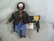 Emmett Kelly Sr. A Tribute To The One And Only Clown Animated Music Box W/cert.