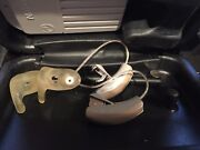 Pair Of Widex Hd Rc4-2 Micro Behind The Ear Hearing Aids W/ Remote