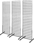 Only Hangers 2and039 X 6and039 Grid Wall Panel Floorstanding Display Fixture 3 Pack