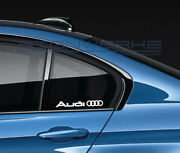 Audi Rings Decal Sticker A4 S4 S3 S5 Ttrs Rs3 R8 Rs5 Rs6 Rs7 Sq5 Q5 Pair