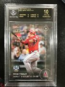 2016 Topps Now 227 Mike Trout/718 Rare Rare Bgs 10 Black Historic Year