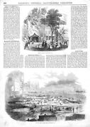View Of The Coffer Dam At Oswego New York - 1852 Antique Print