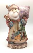 12.5 Tall Russian Santa Nutcracker Fairytale Wooden Hand Carved Hand Painted