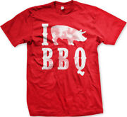 I Love Bbq Pig 3 Heart Barbecue Pork Grill Eat Pulled Ribs Chops Men's T-shirt