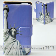 For Oppo Series - Statue Of Liberty Theme Print Wallet Mobile Phone Case Cover