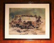 Carlos Ruano Llopis 21 X 17andrdquo Gouache Watercolor Mounted On Board Painting
