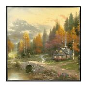 Thomas Kinkade The Valley Of Peace 36 X 36 Framed Wall Mural