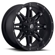 18 18x9 Hostage Black Wheels 35 Fuel Mt Tires Package 8x170 Ford F250 F350