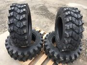 4 Camso Sks753 10-16.5 Skid Steer Tires For Bobcat- 10x16.5 - Good Snow Traction