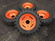 4 New Camso 10-16.5 Skid Steer Tires/wheels/rims -fits Bobcat And 642643-10x16.5