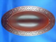 Boma Canada 31cm Carved Wooden Bowl Native Inuit Eskimo Totemic Art Collectable