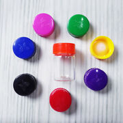 12ml Clear Small Glass Essential Oil Bottles W/ Cap Sample Containers Empty Jars