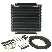 Derale Oil Cooler 13614 Series 9000 10.125 17 Row Aluminum Plate And Fin