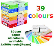 A4 Coloured Paper Reams 80gsm Paper And 160gsm Card- 40 Colours To Choose From