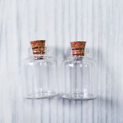 Lot Of 50 15ml Clear Glass Bottle With Cork Empty Jar Small Message Vial 30x40mm