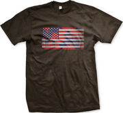 American Flag Fatigues Camouflage Red Blue United States Usa Us Am Menand039s T-shirt