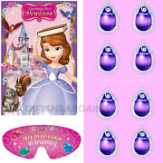 Sofia The First Party Supplies Party Game Pin The Amulet Princess 2-8 Players