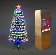 2ft-6ft Pre Lit Christmas Tree Led Fibre Optic Snow Covered Decorations Lights